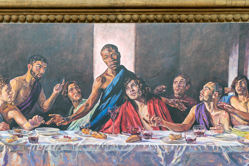 Close up of Last Supper with Black Jesus