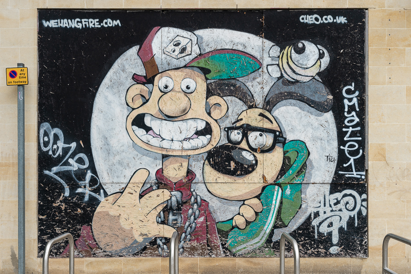 Wallace and Gromit mural
