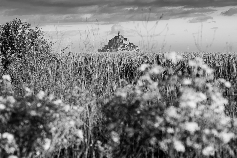 Mont St Michel on the horizon