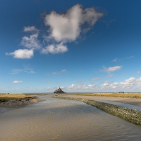 Low tide at Mont St Michel
