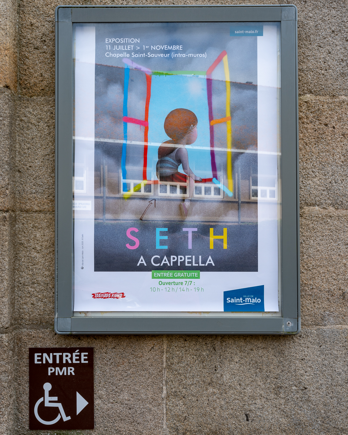 poster of the Seth exhibition in St Malo