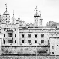 Sketchy view of Tower of London