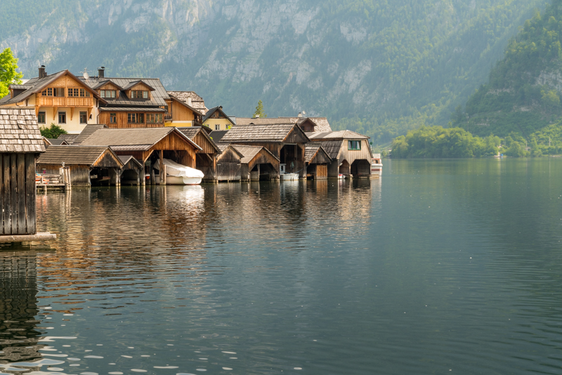 view from Lake Hallstatt