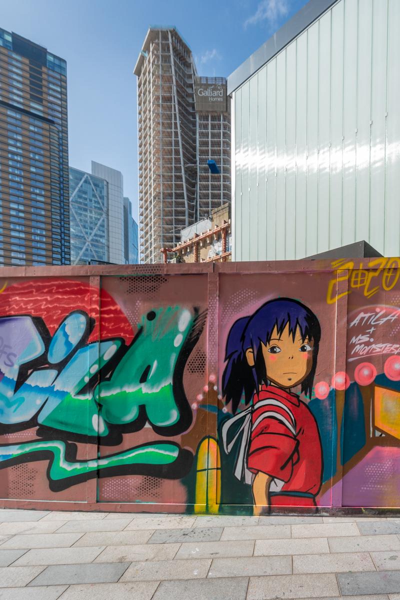 Cartoon street art by Atila