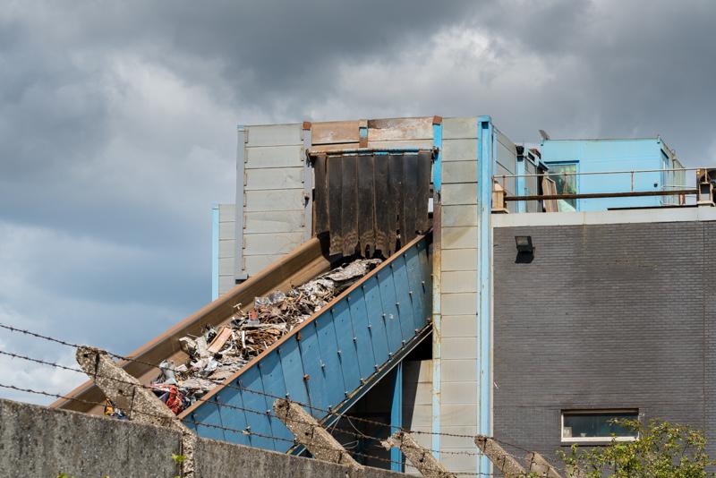 recycling factory on Fife Coastal Path