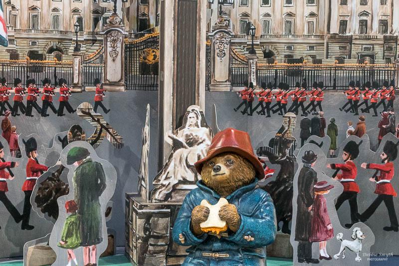 A Paddington Bear display