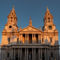 St Paul's in golden light