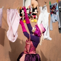 Haute couture meets daily chores