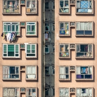 Washing day in Hong Kong