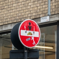 Public art on everyday signs