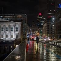 Rainy night in London