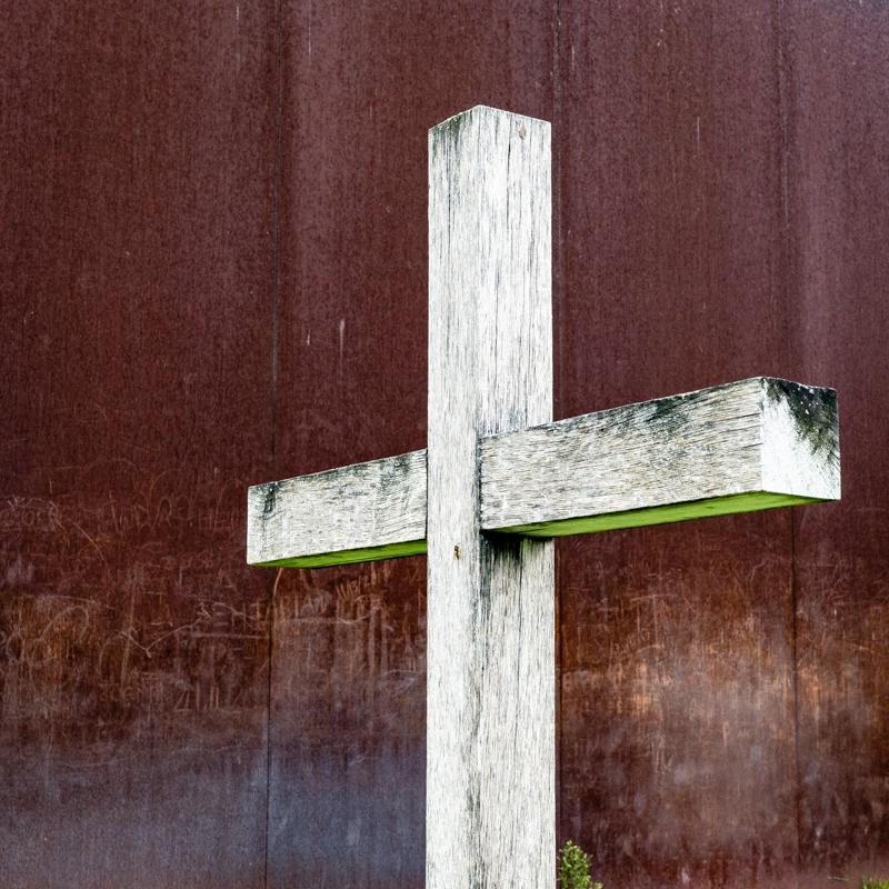 a lone cross