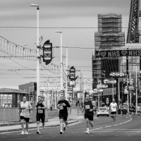 Half marathon in Blackpool
